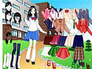 Game thời trang đến trường