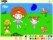 Trẻ em tập tô màu