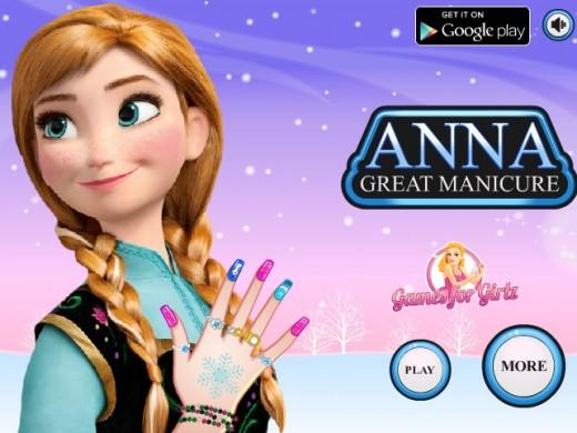 Game Anna làm móng tay