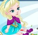 Elsa trượt băng bị ngã