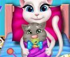 Mèo Angela sinh em bé