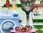 Mèo Tom giặt búp bê