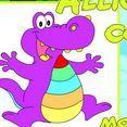 Tô màu con cá sấu