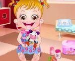 Baby Hazel tập làm bác sĩ