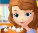 Sofia làm bánh bí ngô