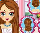 Làm tóc cho cô dâu Barbie
