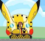 Pokemon lái xe tăng