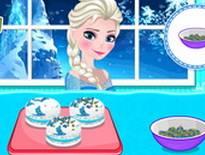 Elsa làm bánh hạnh nhân