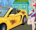 choi game Elsa rửa xe Ô tô