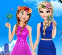 Thời trang công chúa băng giá mùa xuân