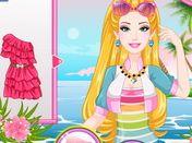 choi game Barbie trang điểm