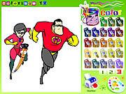 Game tô màu siêu nhân