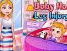 Baby Hazel bị đau chân