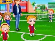 Baby Hazel chơi thể thao
