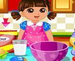 Dora làm bánh