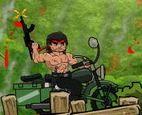 Rambo lái moto