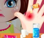 Chữa bỏng tay cho Dora