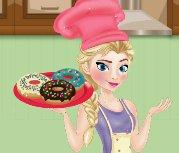 Nữ hoàng băng giá làm bánh Donut