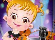 Baby Hazel chơi đàn