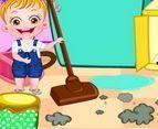 choi game Baby Hazel dọn nhà