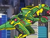 choi game Lắp ráp robot khủng long Therizinosaurus