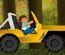 Diego lái xe xuyên rừng