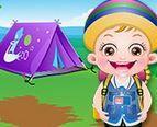 Baby Hazel cắm trại hè