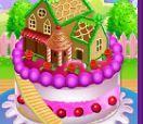 Làm bánh sinh nhật ngôi nhà búp bê